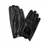 Leather Driving Gloves Wrist Snap for Men Made in Italy K32U-SZ
