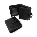 Leather Wallet with Coin Pocket - Made in Florence 514-BU