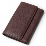 Leather Wallet Billfold for Women, Made in Tuscany 506-BU