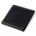 Classic Leather Money Clip Wallet - Made in Italy 549-BU