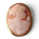 Italian Cameo Carnelian Girl with Song Bird COR-45-01-07M