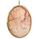 Set in 18k yellow gold  Wearable both as a cameo pendant and a cameo brooch COR-50-01-A_07