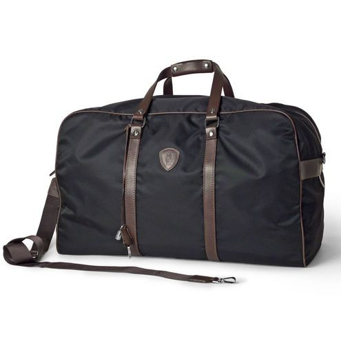 e0e842f843a3 Designer Gym Bag with Leather Accents