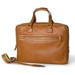 Tucci Slim Briefcase for Men in 100% Italian Leather 1327-VA