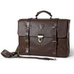 Flap with push button closure and belt strap 1331-VA