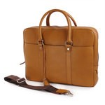 Pierotucci External Pockets & A Leather Laptop Bag 1274-BU