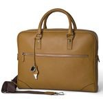 Pierotucci Unisex Leather Laptop Briefcase 1275-BU