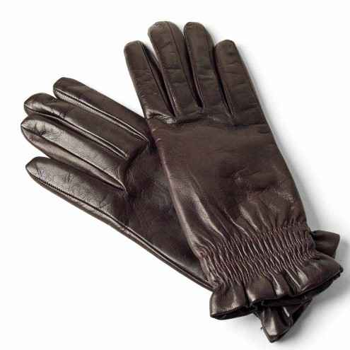 10a9cac8f Leather Gloves Lined in Wool for Women Made in Italy