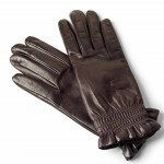 Leather Gloves Lined in Wool Made in Italy 1232-LA