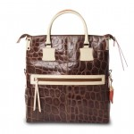 Fortunata Borsa Shopper in pelle tinta unita - Marrone 4848C-PE