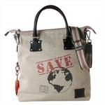 Fortunata Borsa Shopper in tessuto - Save the Earth WWF 4848-SP