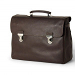 Pierotucci Embossed Leather Expandable Briefcase 1207-BU