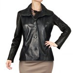 Black Pleated Handmade Leather Jacket AB221-NA/007