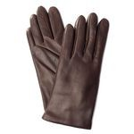 Sandro Temin Brown Leather Gloves for Women 77/3-LA sz.righe