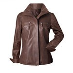 Pierotucci Vintage Italian Leather Jacket for Women AB193-NA/080