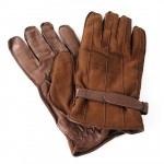 Sandro Temin Leather & Suede Gloves Lined in Wool for Men Made in Italy 1595-LA marr