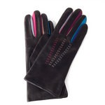 Leather Gloves Lined in Wool Multi-colored Made in Italy ARL2-LA