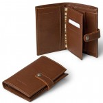 Leather Compact Bifold card slots Wallet Made in Florence 512-VA