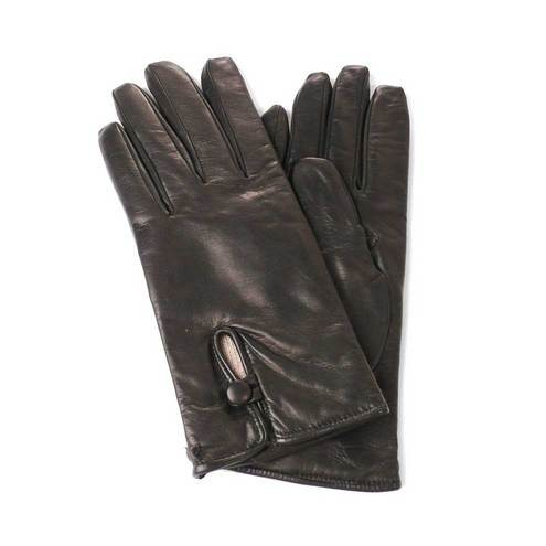 6a55fde3a Leather Gloves Lined in Wool Button detail for Women Made in Italy. on 2016  Mar 04