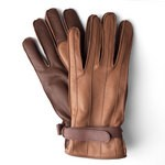 Sandro Temin Warm Brown Leather Gloves for Men 1595C-LA