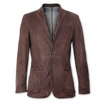 pierotucci italian leather blazer mens brown blazer AB308-CA/003