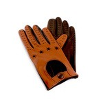 Leather Driving Gloves two tone Made in Italy K32D-SZ-TM