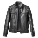 Leather Racer Moto Jacket for Men Made in Florence AB245-NA