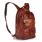 Out of Stock Washed Leather Campomaggi Backpack C3233VL-COGNAC