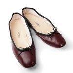 Porselli Ballet Flat - Bordeaux with Black Trim PO-DS-08-02