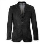 Suede Leather Single Breasted Blazer Made in Italy AB308-CA/007