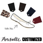 Porselli Ballet Flats Suede - Customized Ballerinas Porselli PO-DS-custom-suede