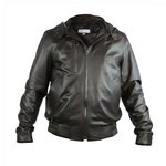 Leather Bomber Jacket Wear 3 Ways for Men Made in Tuscany AB298-NA/226