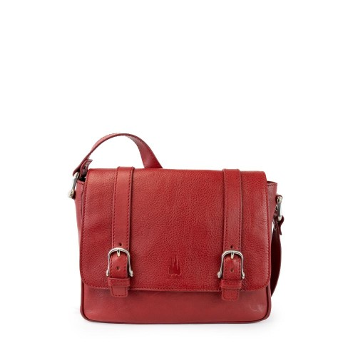 Leather Satchel Messenger Bag For Women Made In Florence