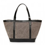 Multipurpose Shopping Tote Bag in Canvas With Leather Accents 2151-TV