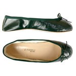 Porselli Total Flat Ballerina - Dark Green PO-SL-25