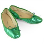 Porselli Ballet Flat - Metallic Green PO-DS-49