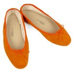 Porselli Ballet Flat - Orange Suede PO-DS-C03