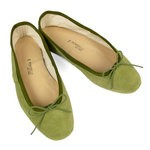 Porselli Ballet Flat - Olive Green Suede PO-DS-C06