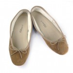 Porselli Ballet Flat - Light Brown Suede PO-DS-C15