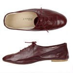 Porselli Jazz with Laces 0,5 cm heel - Bordeaux PO-JZ-08