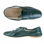 Porselli Jazz with Laces 0,5 cm heel - Dark Green PO-JZ-25