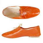 Porselli Jazz with Laces 0,5 cm heel - Orange PO-JZ-24