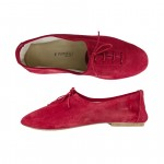 Porselli Jazz with Laces 0,5 cm heel - Red Suede PO-JZ-C08