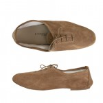 Porselli Jazz with Laces 0,5 cm heel - Light Brown Suede PO-JZ-C15