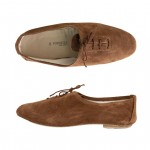 Porselli Jazz with Laces 0,5 cm heel - Brown Suede PO-JZ-C11