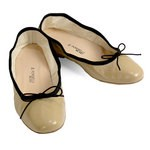 Porselli Ballet Flat - Beige with Black Trim PO-DS-35-02