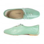 Porselli Jazz with Laces 0,5 cm heel - Mint Green PO-JZ-27