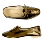 Porselli Jazz with Laces 0,5 cm heel - Bronze PO-JZ-36