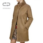 Shearling and Leather Reversible Coat for Women Made in Tuscany AB365-SH