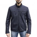 Shearling Racer Jacket with Zip Closure Made in Italy AB363-SH